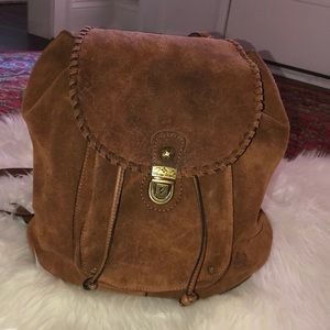 Patricia Nash suede backpack purse